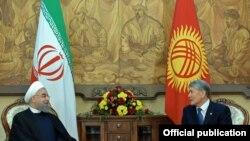 Хасан Роухани и Алмазбек Атамбаев.