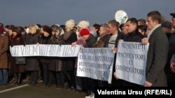 La mitingul de protest