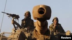 Израильские войска на Голанских высотах