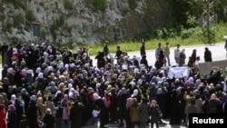 Демонстрация женщин под Баниясом 13 апреля