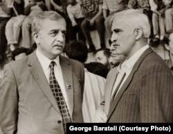Лидеры национального движения Грузии конца 1980-х: Звиад Гамсахурдия (слева) и Мераб Костава