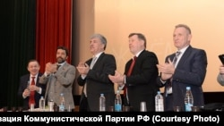Павел Грудинин и мэр Новосибирска Анатолий Локоть