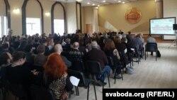 Удзельнікі канфэрэнцыі да 100-годзьдзя БНР у Інстытуце гісторыі НАН