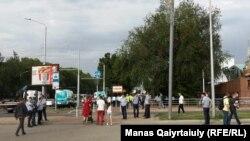 Алматыдағы орталық стадион маңы. 6 шілде 2019 жыл.