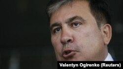 Міхеїл Саакашвілі після зустрічі з депутатами парламентської фракції «Слуга народу». Київ, 24 квітня 2020 року