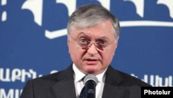 Armenia - Minister of Foreign Affairs Edward Nalbandian holds a press conference, Yerevan,14Jan2011