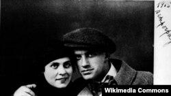 Лилия Брик менен Владимир Маяковский.