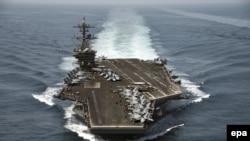 ABŞ-nyň uçar göteriji USS Theodore Roosewelt gämisi, 21-nji aprel, 2015