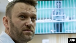 Российский оппозиционный политик Алексей Навальный в суде. Москва, 17 февраля 2015 года.