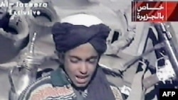 Hamza bin Laden recites a poem praising Taliban leader Mullah Mohammad Omar in a video broadcast by Al-Jazeera on November 7, 2001.