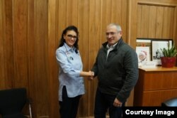 Ольга Литвиненко и Михаил Ходорковский