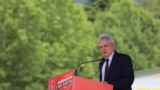 Macedonia - 2020 parliamentary elections - DUI President Ali Ahmeti in the election campaign