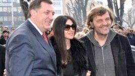 Milorad Dodik, Monika Beluči i Emir Kusturica u Banjaluci
