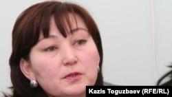 Маржан Аспандиярова, Азат ЖСДП саяси кеңес мүшесі. Алматы, 21 ақпан 2011 жыл
