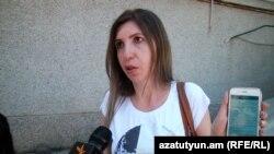Элен Исаакис беседует с корреспондентом Радио Азатутюн, Ереван, 16 мая 2019 г.