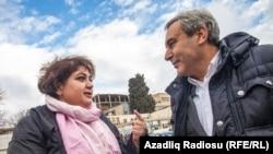 Хадиджа Исмайлова и ее адвокат Эльтон Гулиев