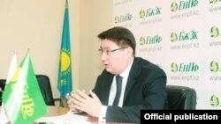 Руслан Ерденаев в бытность председателем Единого накопительного пенсионного фонда (ЕНПФ) Казахстана.