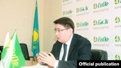 Руслан Ерденаев в бытность главой Единого накопительного пенсионного фонда (ЕНПФ) Казахстана.