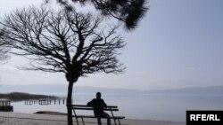 Поглед кон Охридското Езеро.
