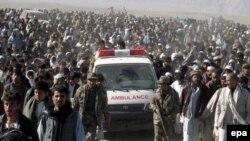 اقارب ۳۱ کشته شده ملکی در غور دست به اعتراض زدند
