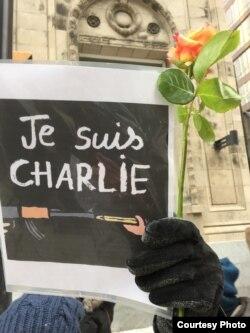 Акция в поддержку журналистов Charlie Hebdo, Торонто, Канада, 11 января 2015 года
