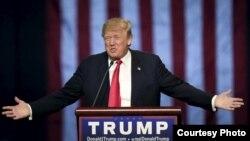 Кандидат на пост президента США от Республиканской партии Дональд Трамп.
