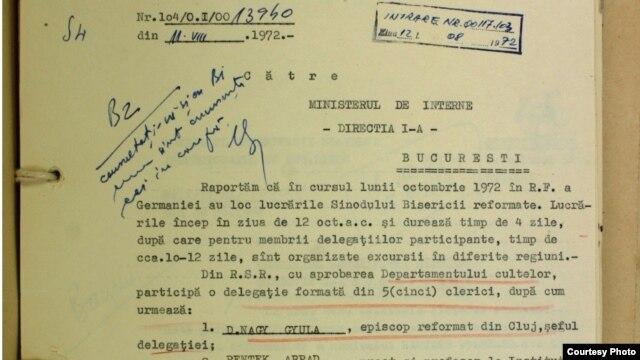 Document din Arhiva CNSAS