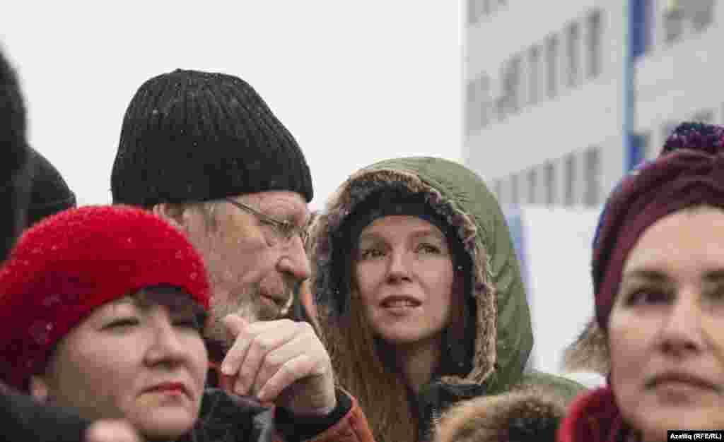 Мехчылар фабрикасына килгән казаннар арасында Татарстан президенты киңәшчесе Олеся Балтусова да бар иде