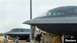 АҚШ әскери күштері Ливияға аттанғалы тұр. Вайтмэн әуе күштері базасы, 19 наурыз 2011 жыл