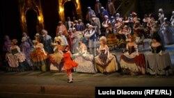 Scenă din opera Bal Mascat de Giuseppe Verdi la Teatrul de Operă şi Balet din Chişinău.
