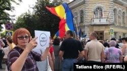 Молдавија-протести на поддржувачите на Андреј Настасе