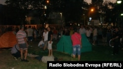 The demonstrators have called on Macedonians to join them in future protests against government plans to build administrative offices on the site of the park.