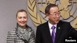 Хилари Клинтон и Бан Ки Мун