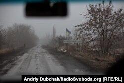 Дорога в тумані на в'їзді до Новотошківського