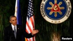 Обама жаңы санкциялар тууралуу Маниладагы маалымат жыйынында билдирди, 28-апрель, 2014