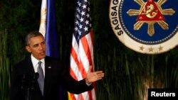 Филиппин -- АКШ президенти Барак Обама маалымат жыйынында, Манила, 28-апрель, 2014.