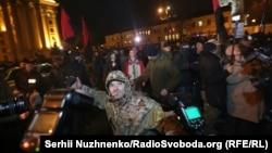 Учасники маршу добровольців напали на офіс СКМ, Київ, 14 березня 2017 року