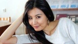 Студент Айжан Кәрібаева. (Сурет жеке мұрағаттан алынған).