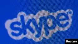 Логотип компании «Скайп».