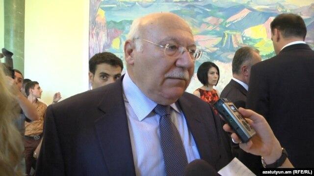Armenia -- Cyprus Attorney General Petros Clerides answers RFE/RL's question, Yerevan, 01Jul2013.