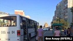 Автобус в городе Актобе.