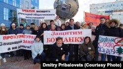Новосибирск, 22 октября, пикет на улице Богдана Хмельницкого за строительство нового спортивного центра.