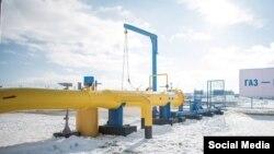 """Ukraine, Crimea - Gas to Crimea. The main gas pipeline """"Krasnodar region - Crimea"""", 28Dec2016"""