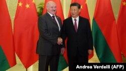 Չինաստանի նախագահ Սի Ծինփինը Պեկինում ընդունում է Բելառուսի նախագահ Ալեքսանդր Լուկաշենկոյին, ապրիլ, 2019թ․