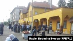 Железничка станица во Гевгелија.