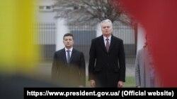 Президенти України та Литви Володимир Зеленський та Ґітанас Науседа, Вільнюс, 27 листопада 2019 року