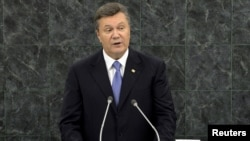Ukrainian President Viktor Yanukovych during his address last month at the 68th United Nations General Assembly at UN headquarters in New York