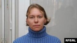 Миссионер «Церкви объединения» Елизавета Дреничева в зале суда. Алматы, 9 января 2009 года.