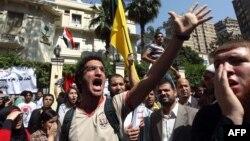 Протести пред саудиската амбасада во Каиро на 24 април 2012.