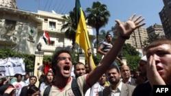 Protestë para ambasadës saudite në Kajro, 24 prill 2012